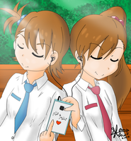 The iDOLMASTER Futami Ami and Mami by TheClearBlueSky
