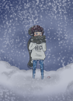 Snow Falls So Gently.. by kittn-boi