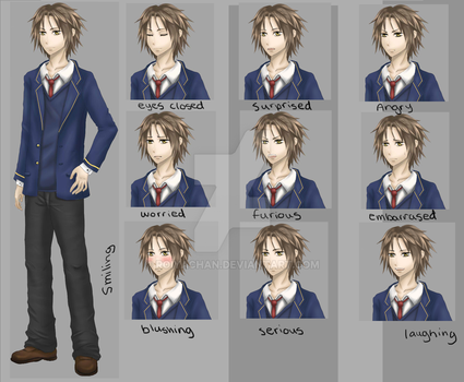 Ken sprite with expressions by RoiyaChan
