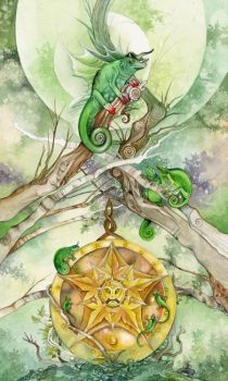 Ace of Pentacles by puimun