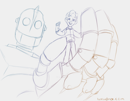 Daily Sketch: The Iron Giant by luxandnox