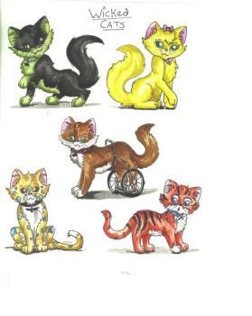 Wicked Cats colored by ArtisticDiva