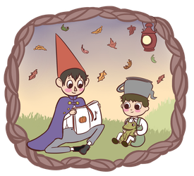 Over The Garden Wall Sticker by Sainvrier