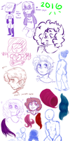.:2016:. Year Doodle Dump by Chaotic-Marxie76