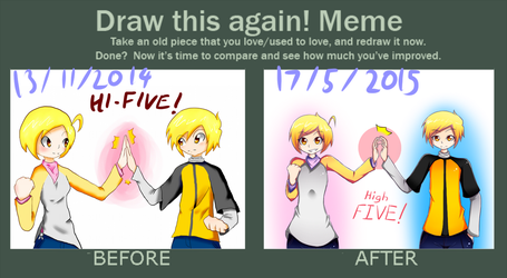 Draw this again: High-FIVE! by Tyxant
