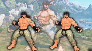 SFV - Ryu (Bearded version) by LorisCangini