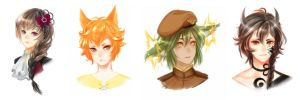 CG Headshot Commission Batch by XOX-Nata