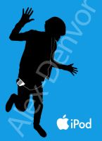 iPod Advert - Blue by Alex-Denvor