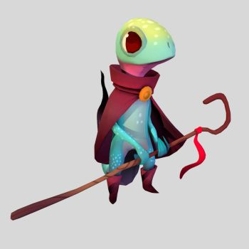 Lizard Mage by Mamaleen