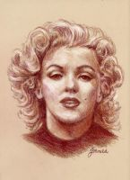Marilyn, in sepia tones. by Jojemo