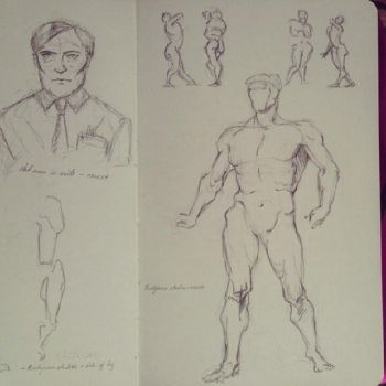 Figure Drawing Practice - 04 by LizzVisions