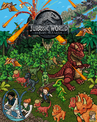 Jurassic World Fallen Kingdom Habbo version by que-miras93