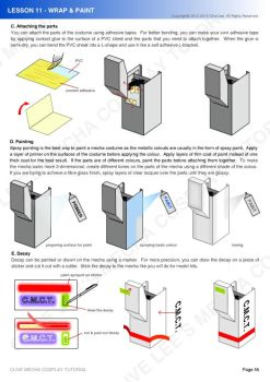 Gundam/mecha cosplay costume tutorial- Lesson 11-2 by Clivelee