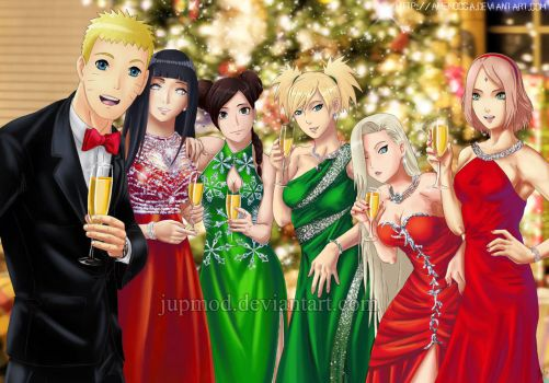Naruto and The Girls: Holiday Cheers! (Full-Ver) by JuPMod