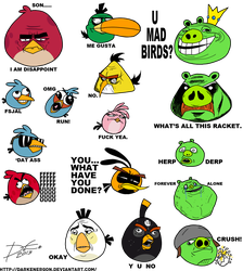 Angry Meme Birds by DarkEnergon by DarkEnergon