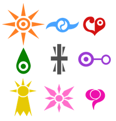 Digimon Crests by Aileen-Rose