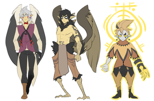 Demon designs by InkpotBot