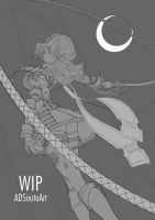 WIP - Miriam The Crystal Cursed by ADSouto