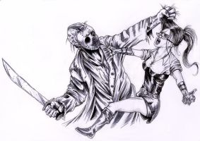 Jason Vs Charlie by ECTO87