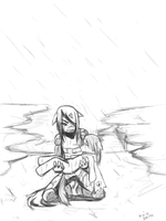 cost of being a hero sketch by keio-sama