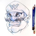 Wario Sketch by D-MAC