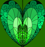 Heart: Shades of Green by ArtsyOwlFree3