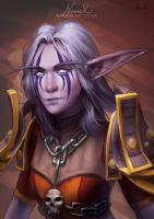 Commission: Night Elf Hunter by Naariel