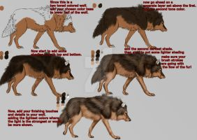 Wolf fur coloring tutorial by ValsparinDragon