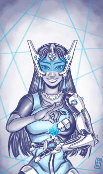Overwatch - Symmetra by Mosquito-86