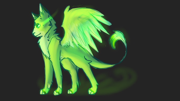 Lol It Turned From Brown To Green by FlameFox15