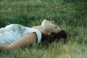 lying on the grass by Anestezia