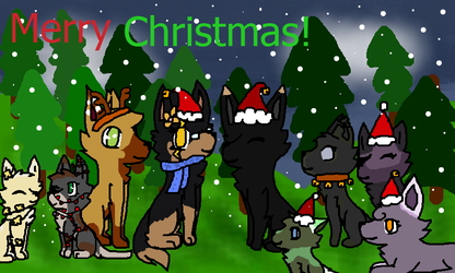 Happy Holidays from the Sky-Fall Pack :D by Oak-Storm