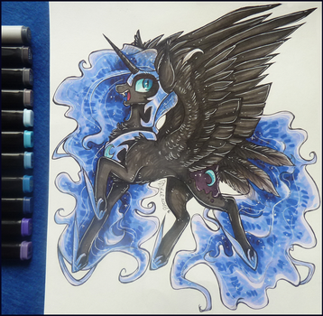 Nightmare Moon (Auction) by D-Dyee