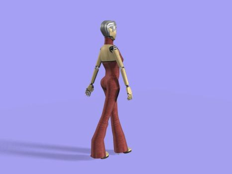Female Robot Update 2 by steelegg