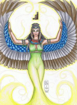 Isis With Wings by MyWorld1
