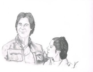 Han and Leia by SpaceHeroStudios