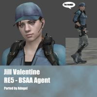 Jill Valentine RE5 BSAA Agent by Adngel