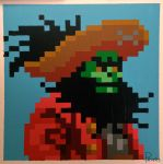 Evil Pirate LeChuck Pixel Painting by RubiksPhoenix