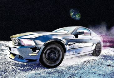 Mustang On The Moon by bourboncream