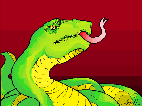 paint and snake by Dr-Wilku