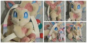 Custom poseable Sylveon plush by angelberries