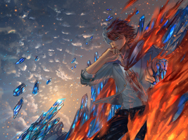 Todoroki Shouto Wallpaper by Faesu