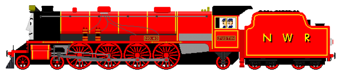 Justin the British Built Mountain Engine by JamesFan1991