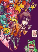 She and her monsters by yellowpin