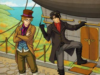 Steampunk Good Omens by kayshasiemens