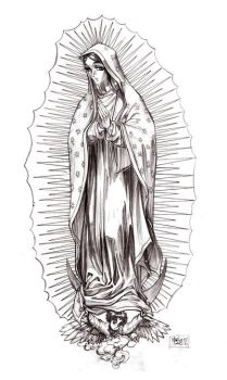Lady of Guadalupe by MarioPons