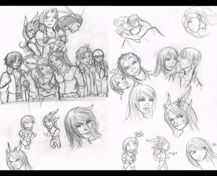 FF7 Fanfcition doodles by Fanglicious