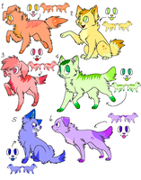 Dogs adoptables. by xFlopyBonitax