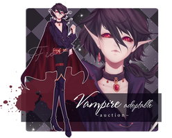 Vampire Adoptable ~AUCTION~ [CLOSED] by Fiorrie
