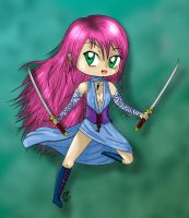 Chibi warrior coloured by Hotaru-oz